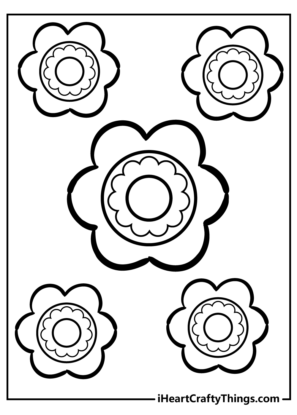 simple rose coloring pages for kids free printable