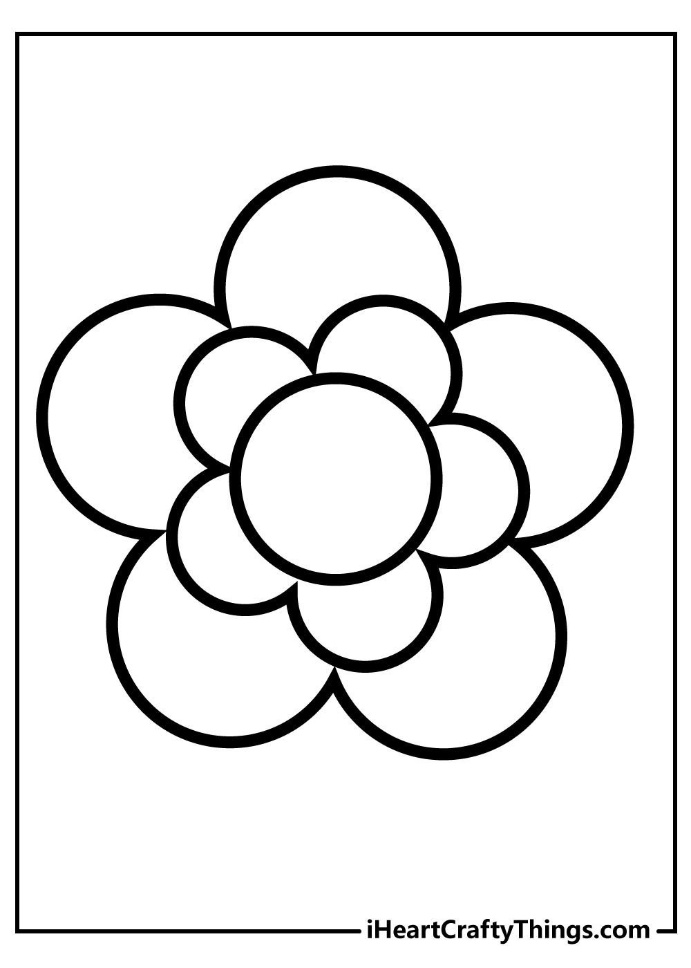 simple flower drawing free printable coloring pages