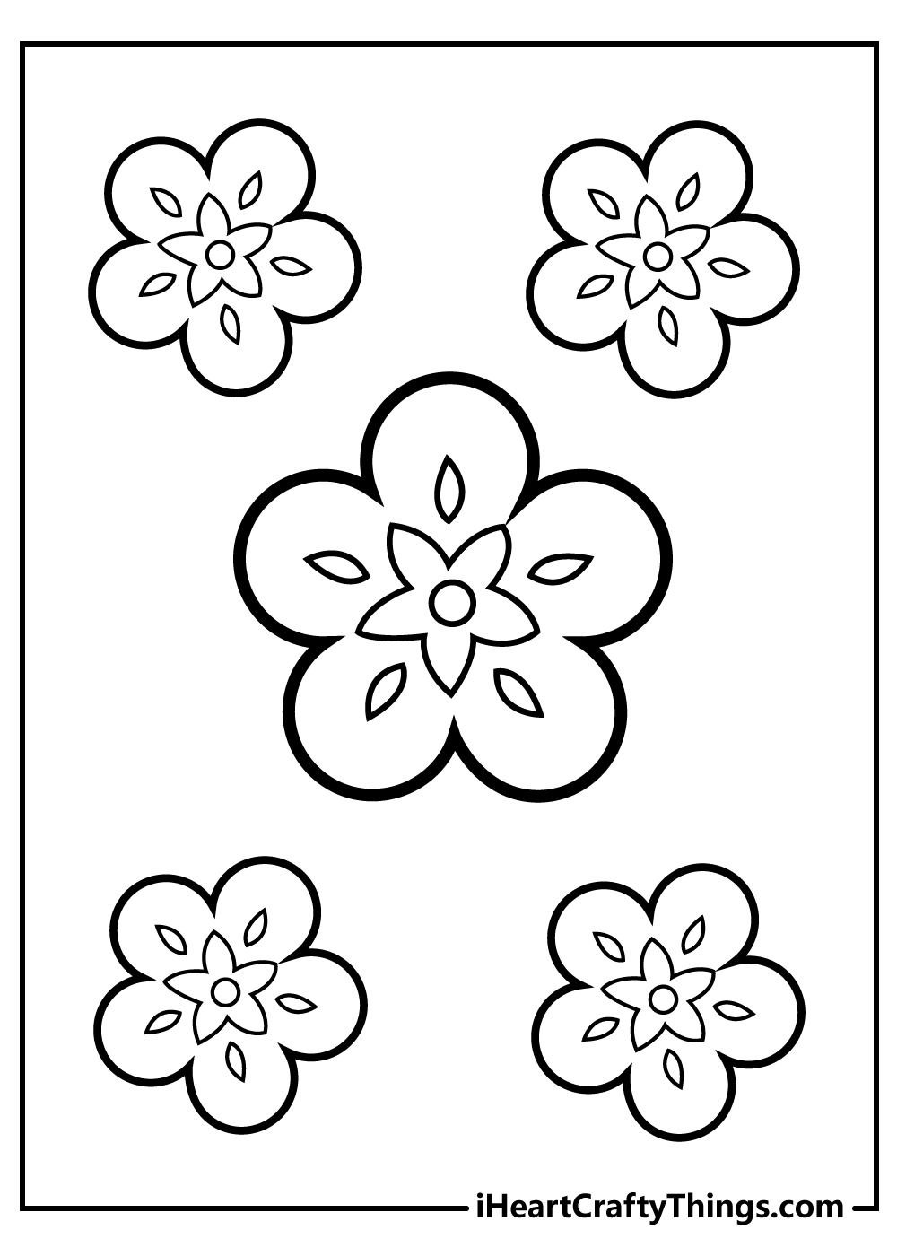 simple flower colouring pages free printable