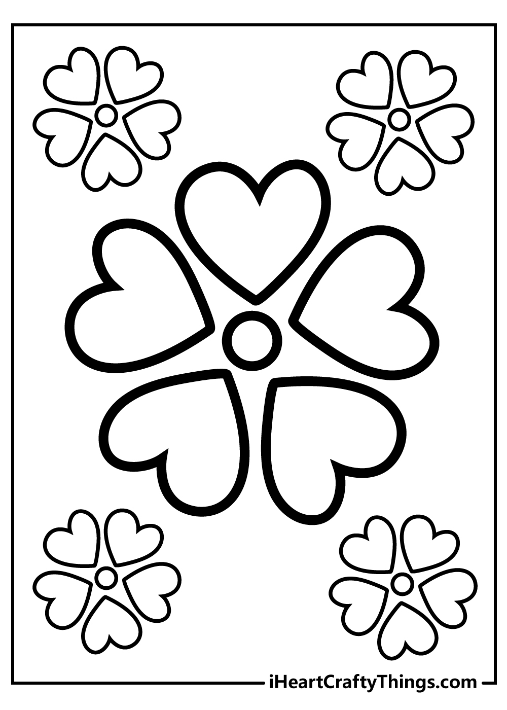 free printable simple spring flowers coloring pages