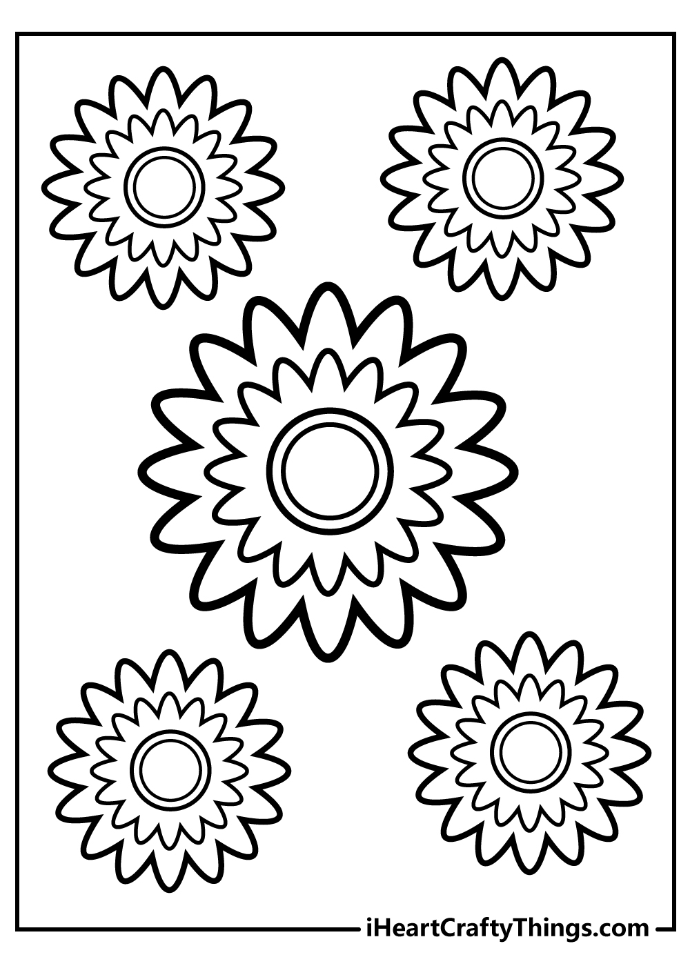 amazing flowers coloring pages simple design free printable