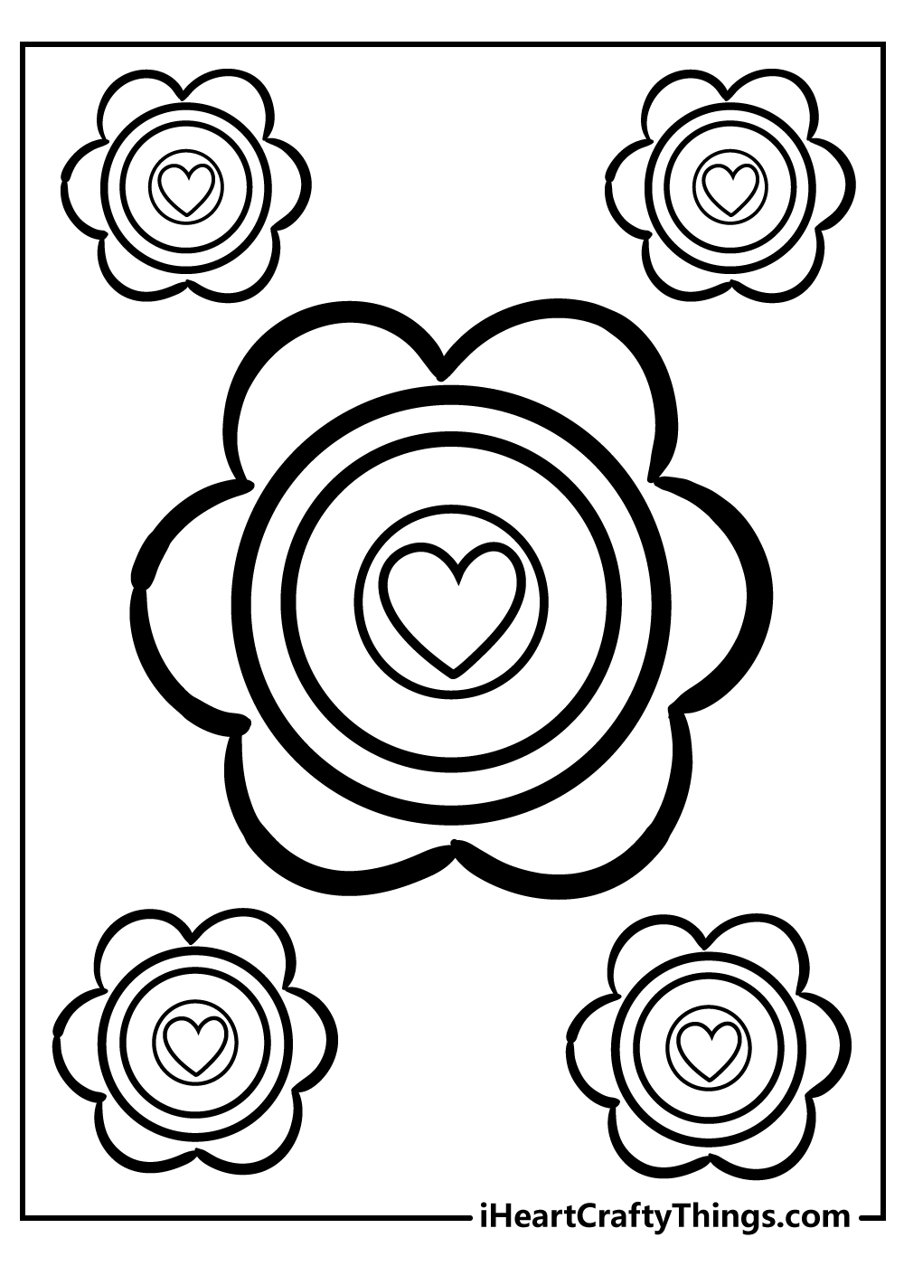 mother's day simple flower coloring pages download now