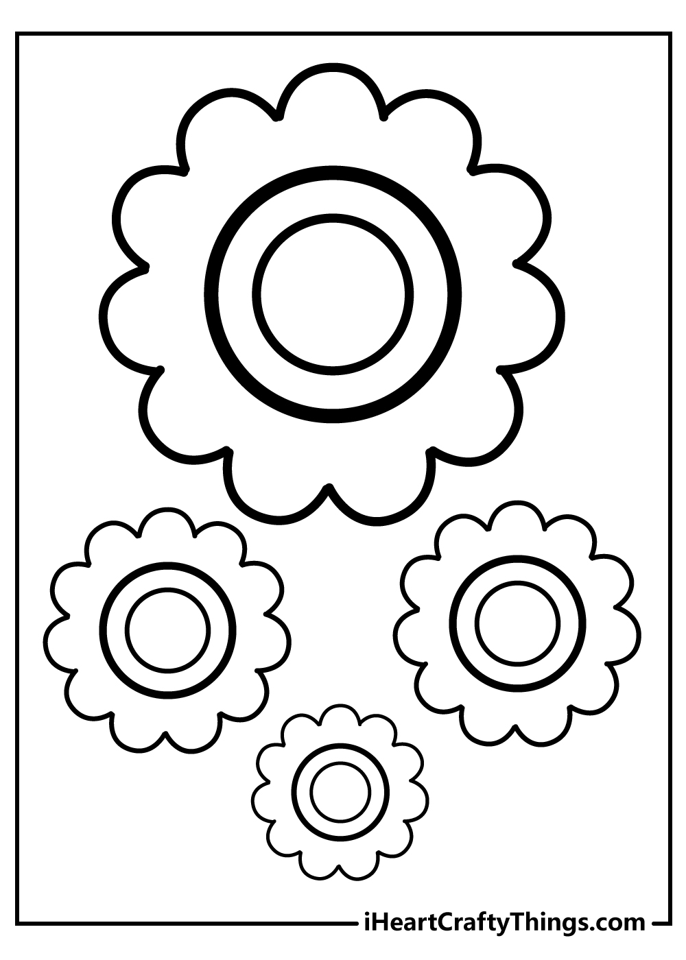 free simple flower coloring sheets for kids