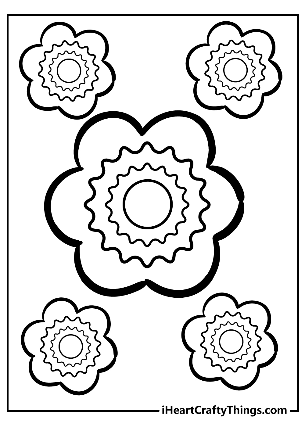 lovely simple flower images for kids to color