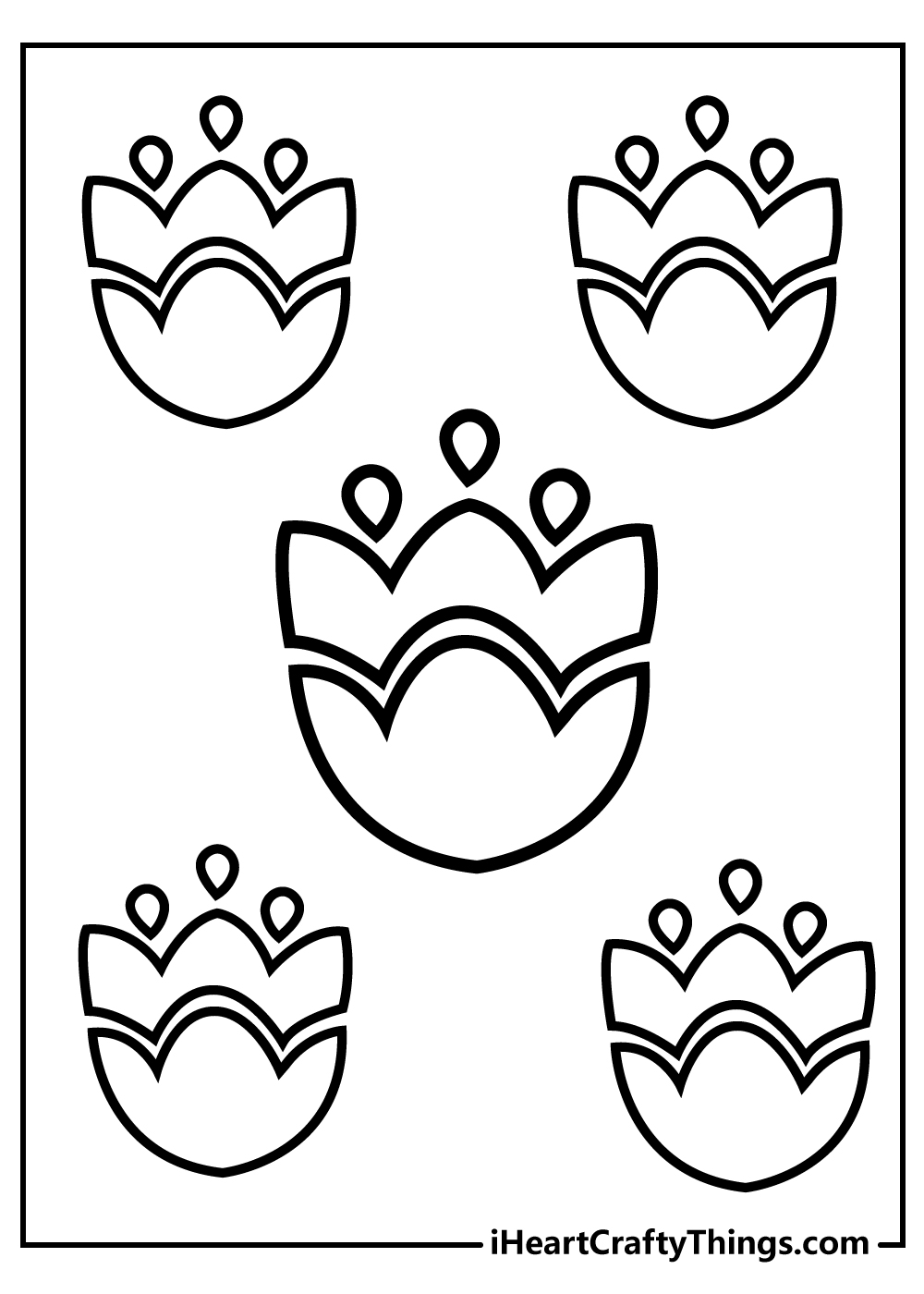 simple flower coloring pages for kids download now