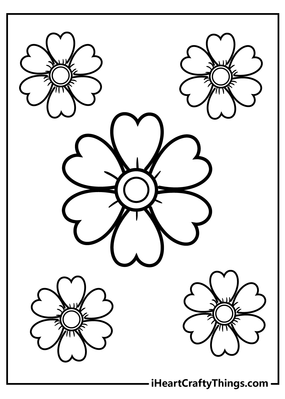 simple flower coloring pages to print