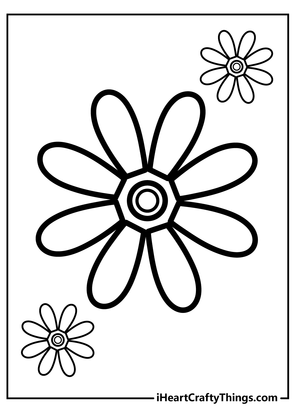 simple flower coloring book for toddlers