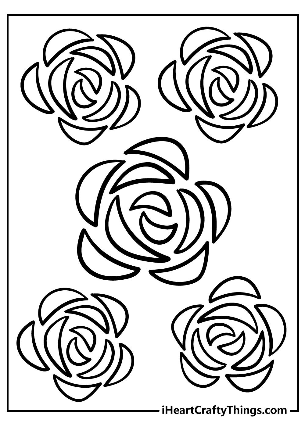 unique design simple flower coloring sheets free download