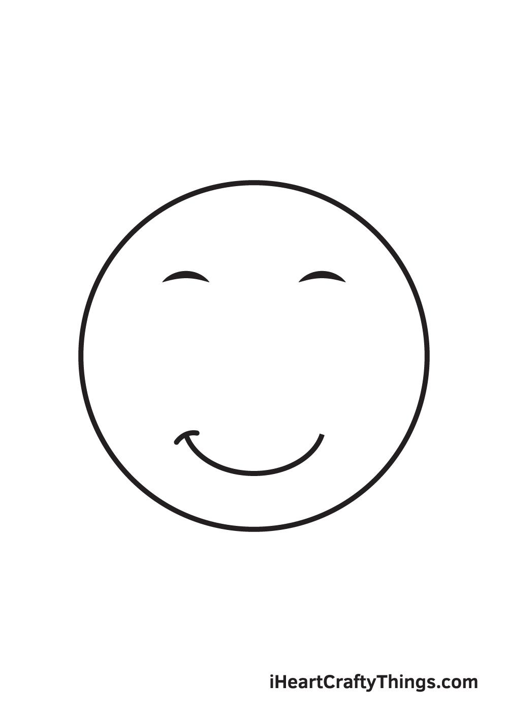 smile drawing step 5