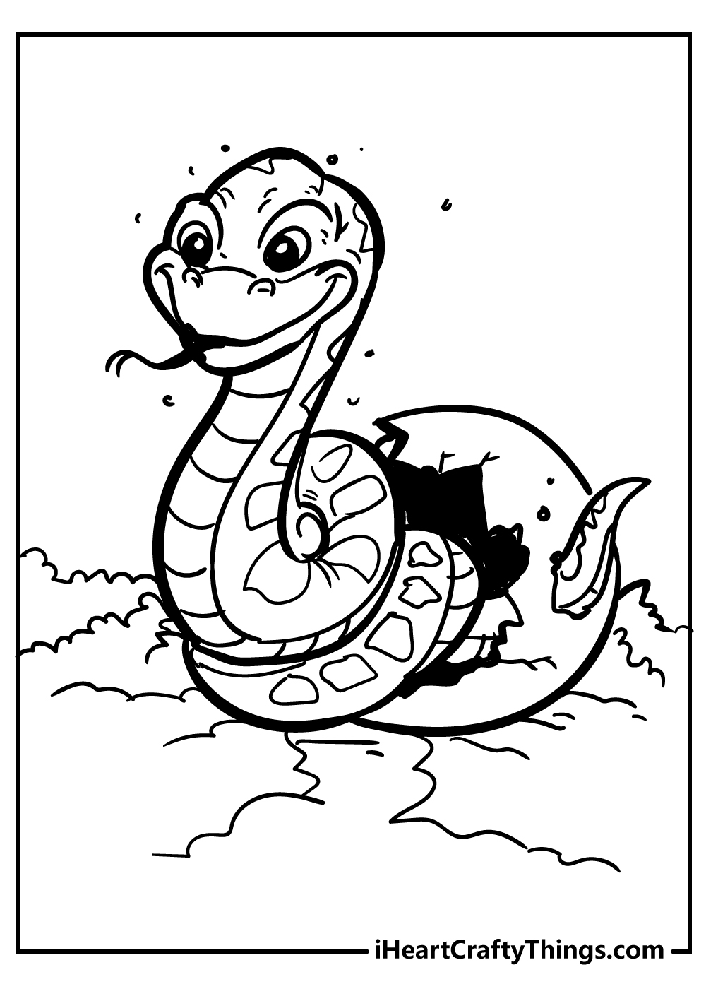 baby anaconda snake coloring pages free printable