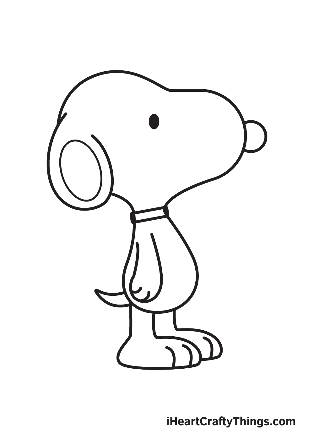 snoopy drawing step 9