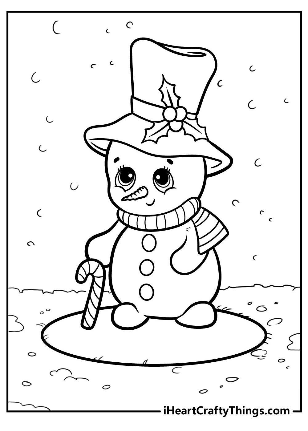 baby snowman coloring pages free printable