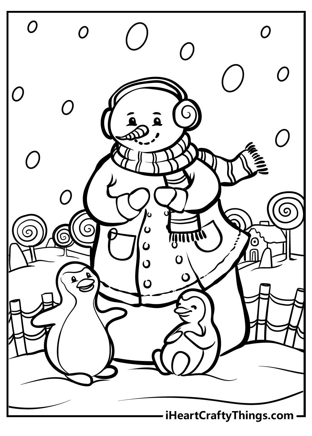 snowman coloring pages for adults free printable