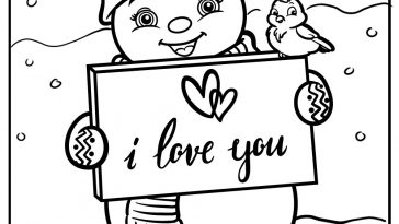 romantic snowman coloring images free printable