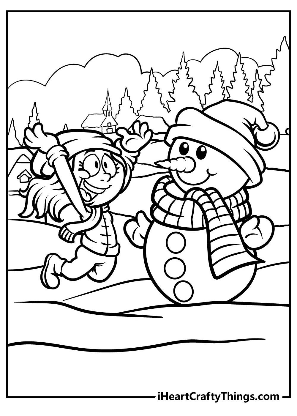 funny snowman coloring pages free printable