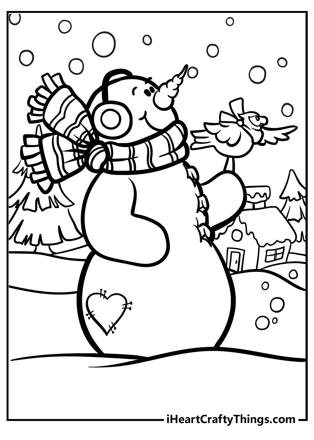 christmas snowman coloring pages for kids printable