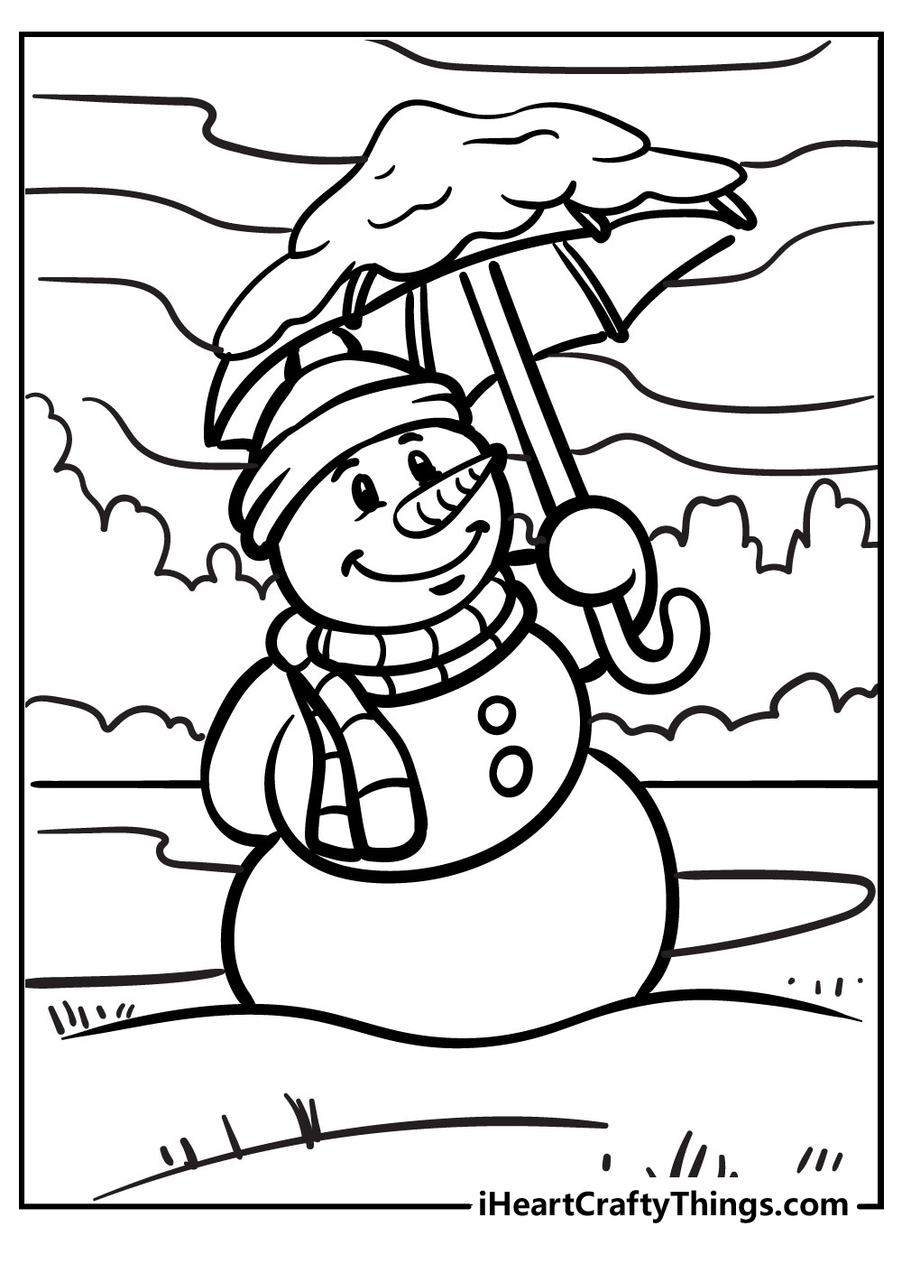 cute snowman coloring pages free pdf