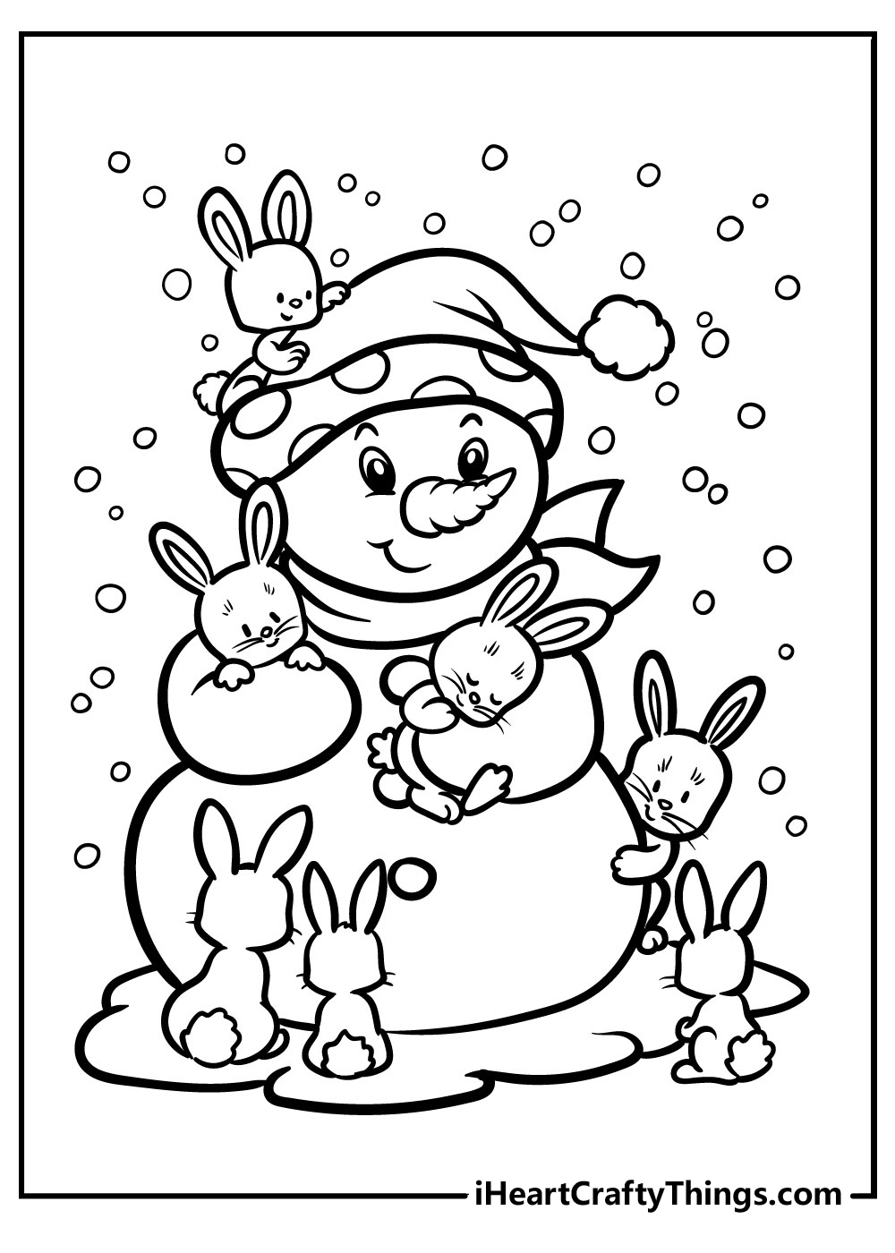 preschool snowman coloring pages free printable