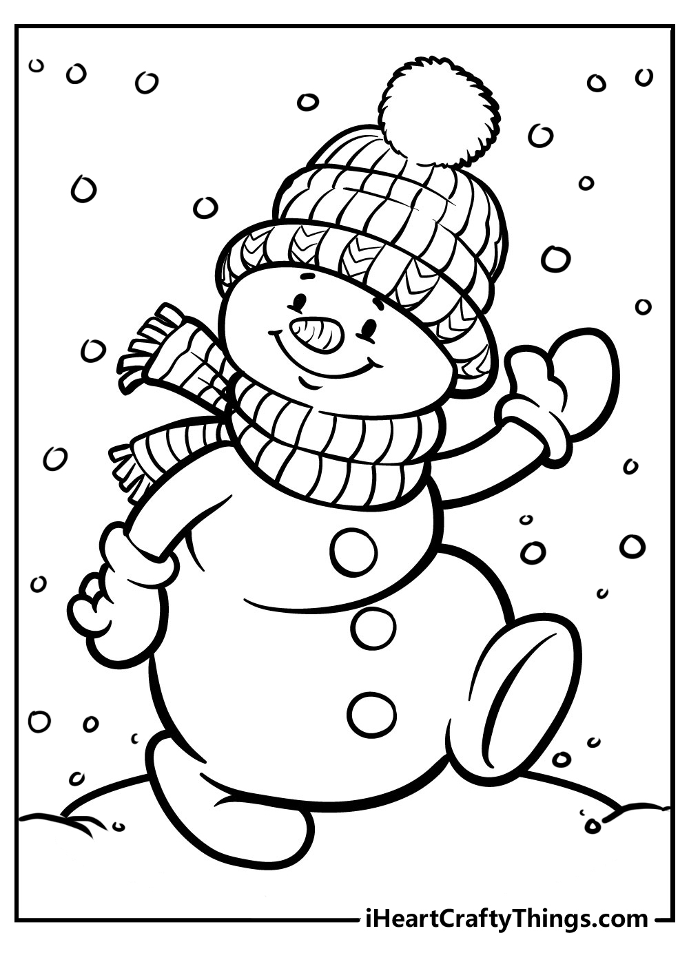 snowman coloring sheets for preschoolers free printable