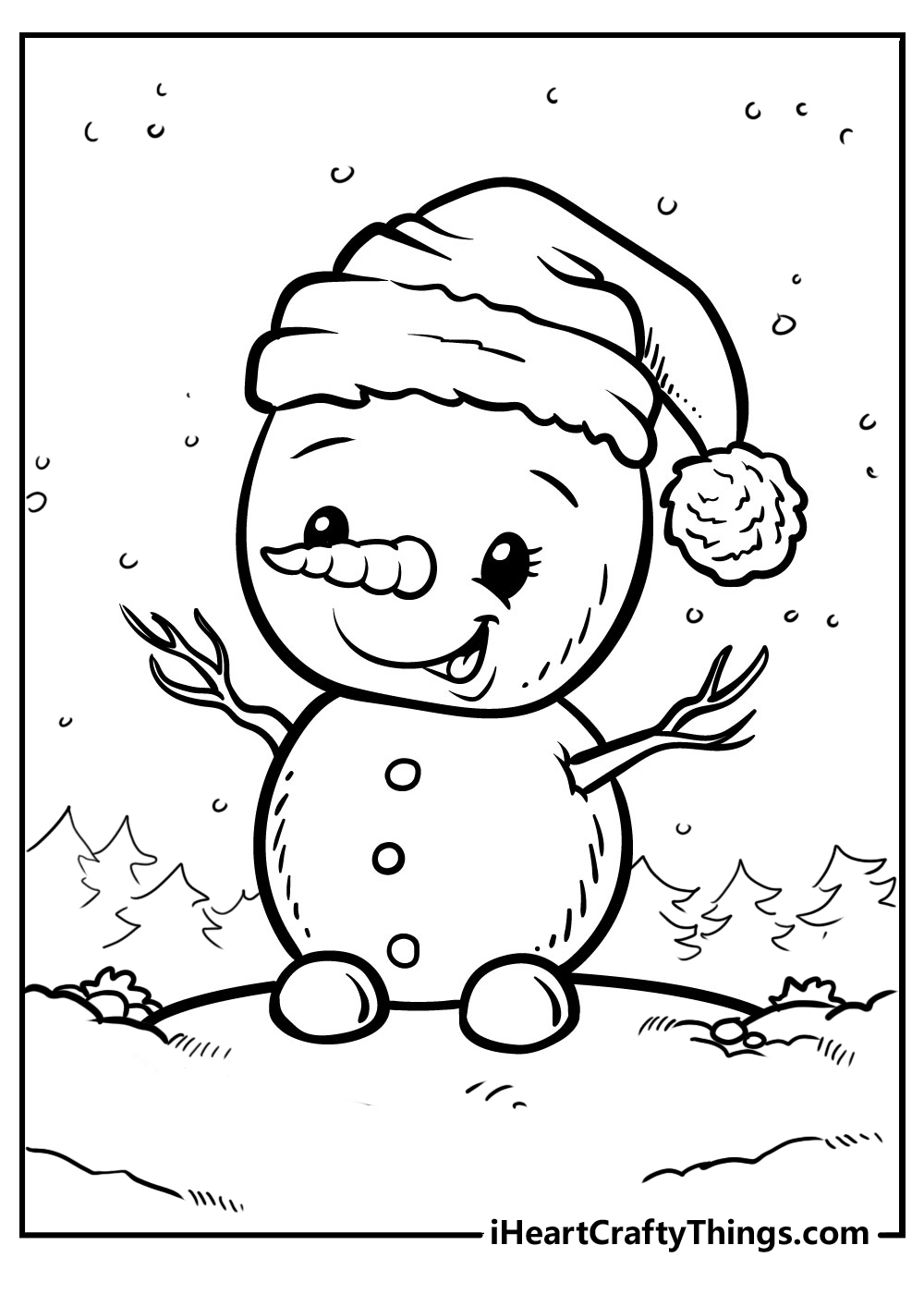 little snowman coloring pages free download