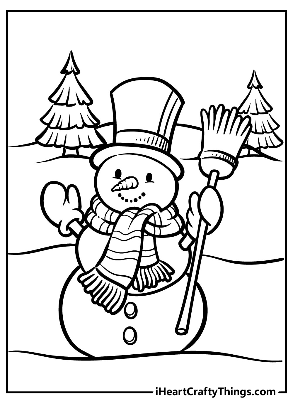 realistic snowman coloring books free printable