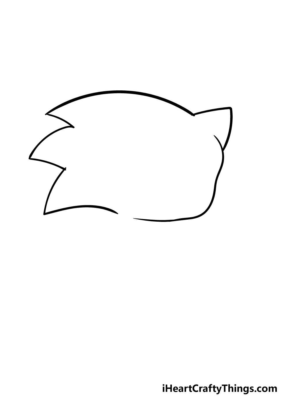 sonic drawing step 2