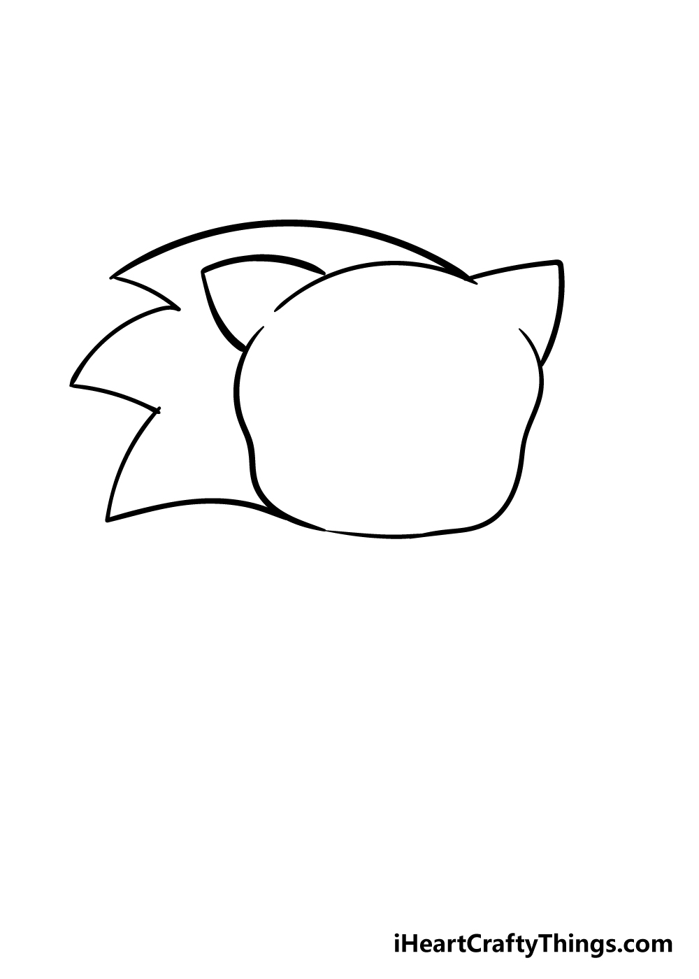 sonic drawing step 3