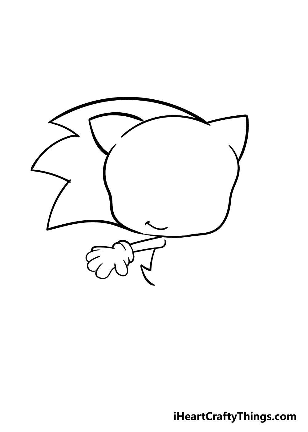 sonic drawing step 4