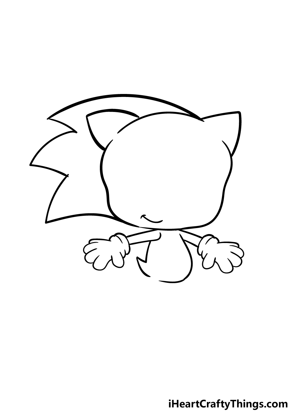 sonic drawing step 5