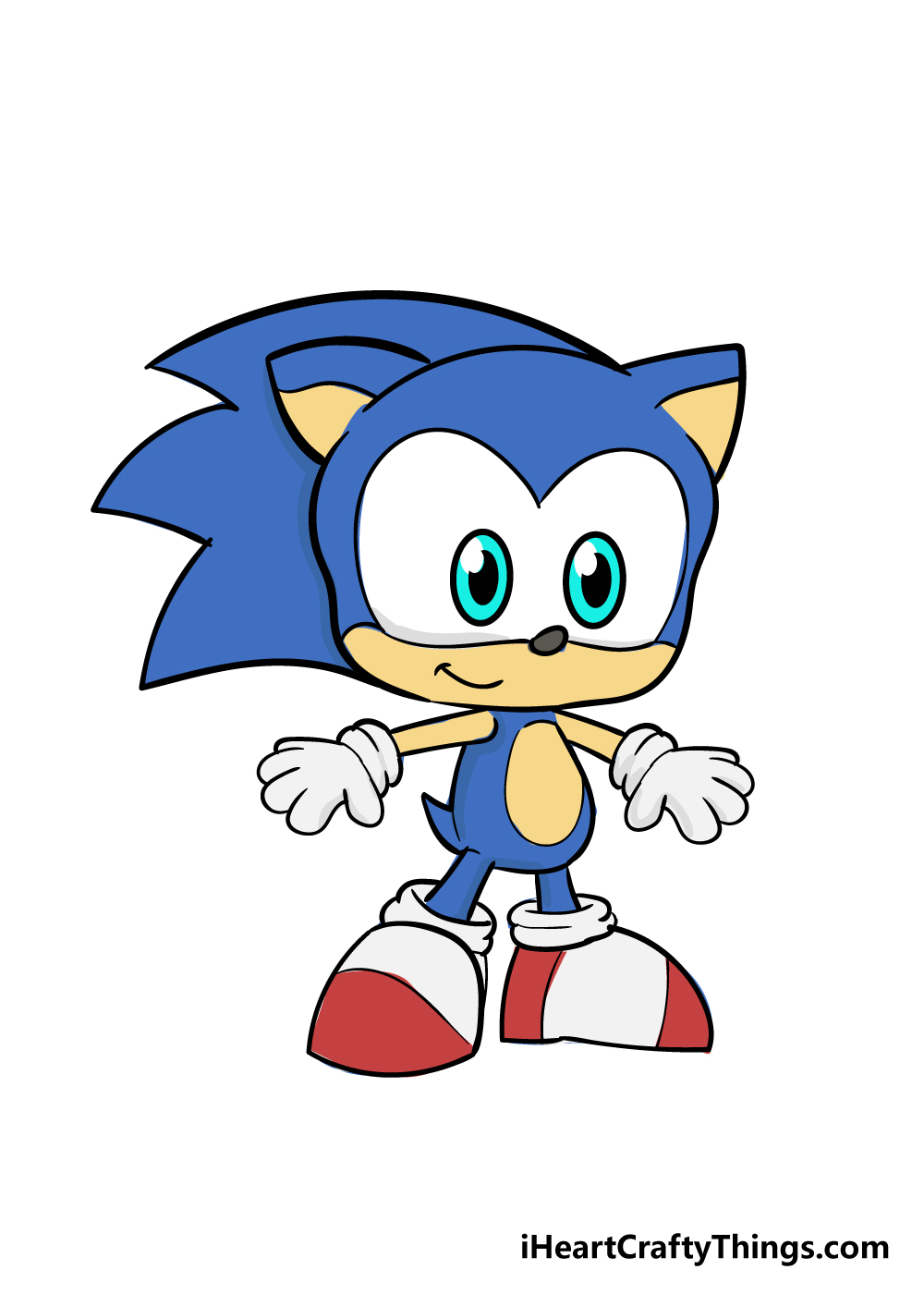 sonic drawing step 9