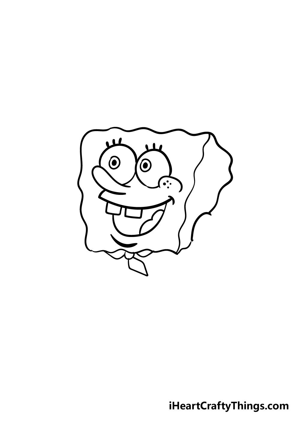 spongebob drawing step 4
