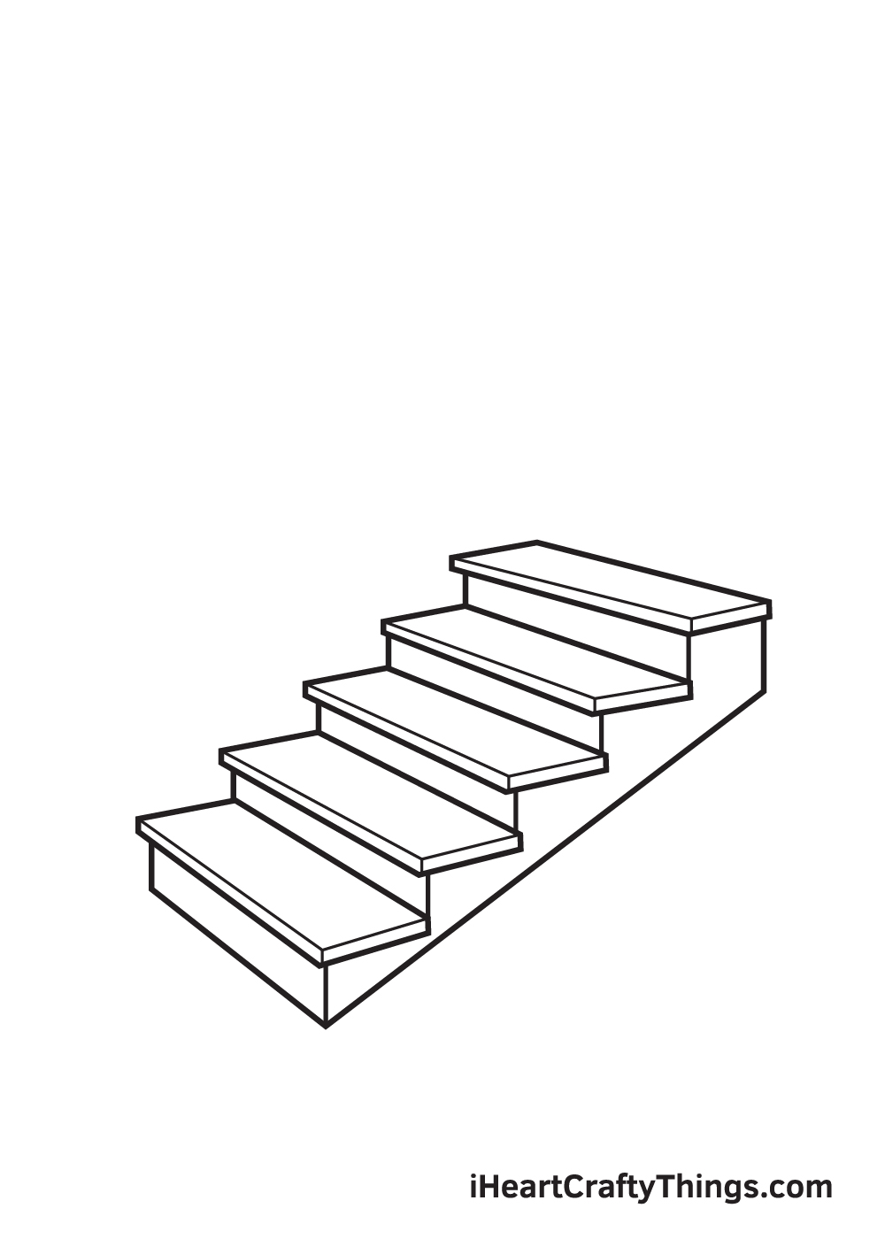 stairs drawing step 6