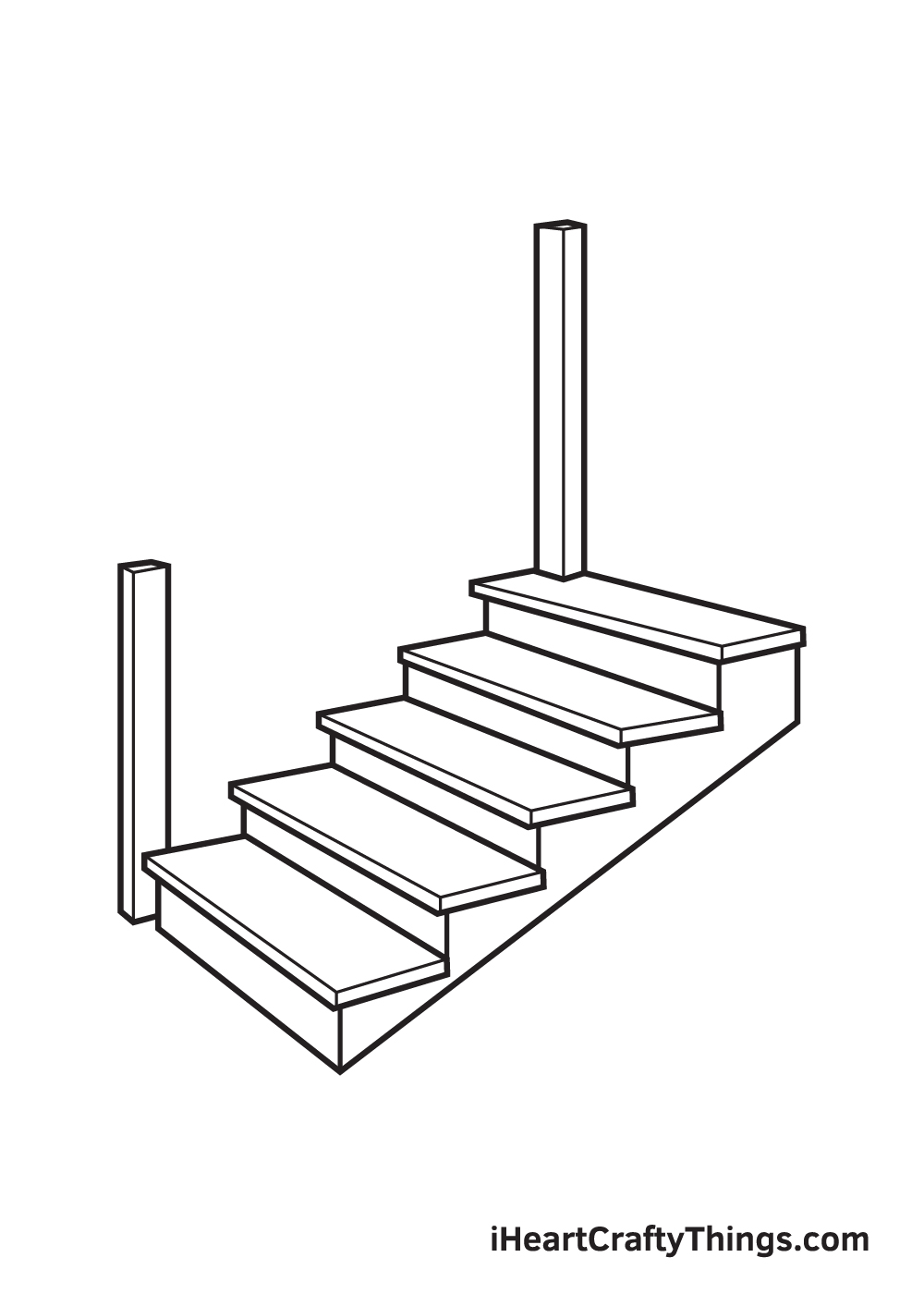 stairs drawing step 7