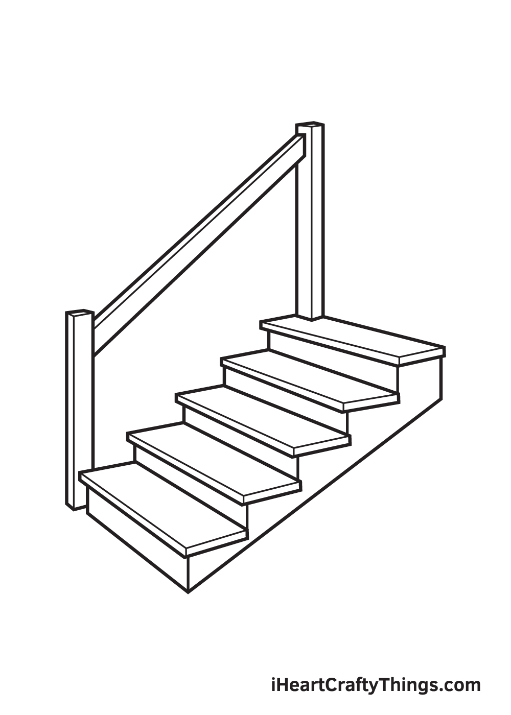 stairs drawing step 8