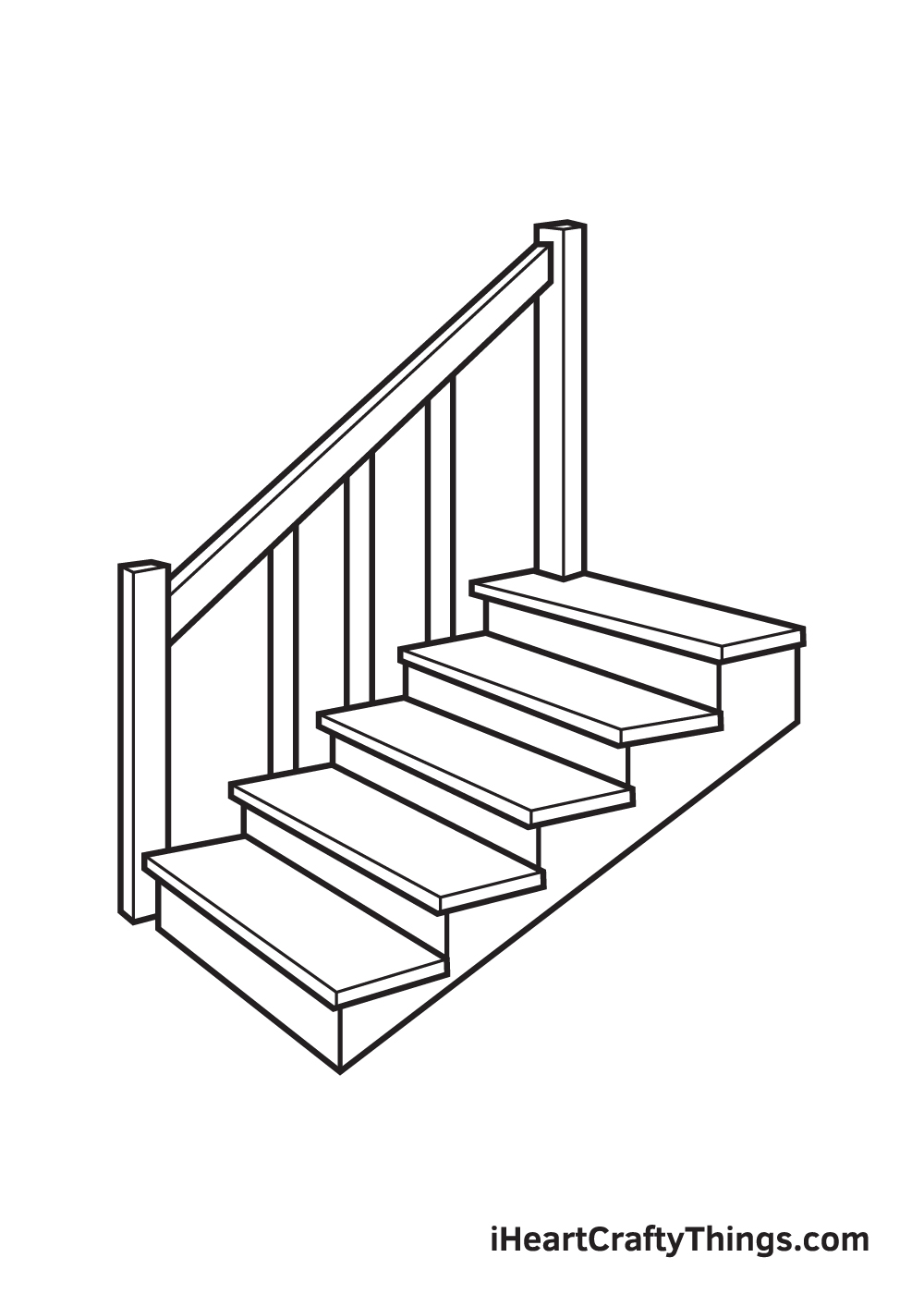 stairs drawing step 9