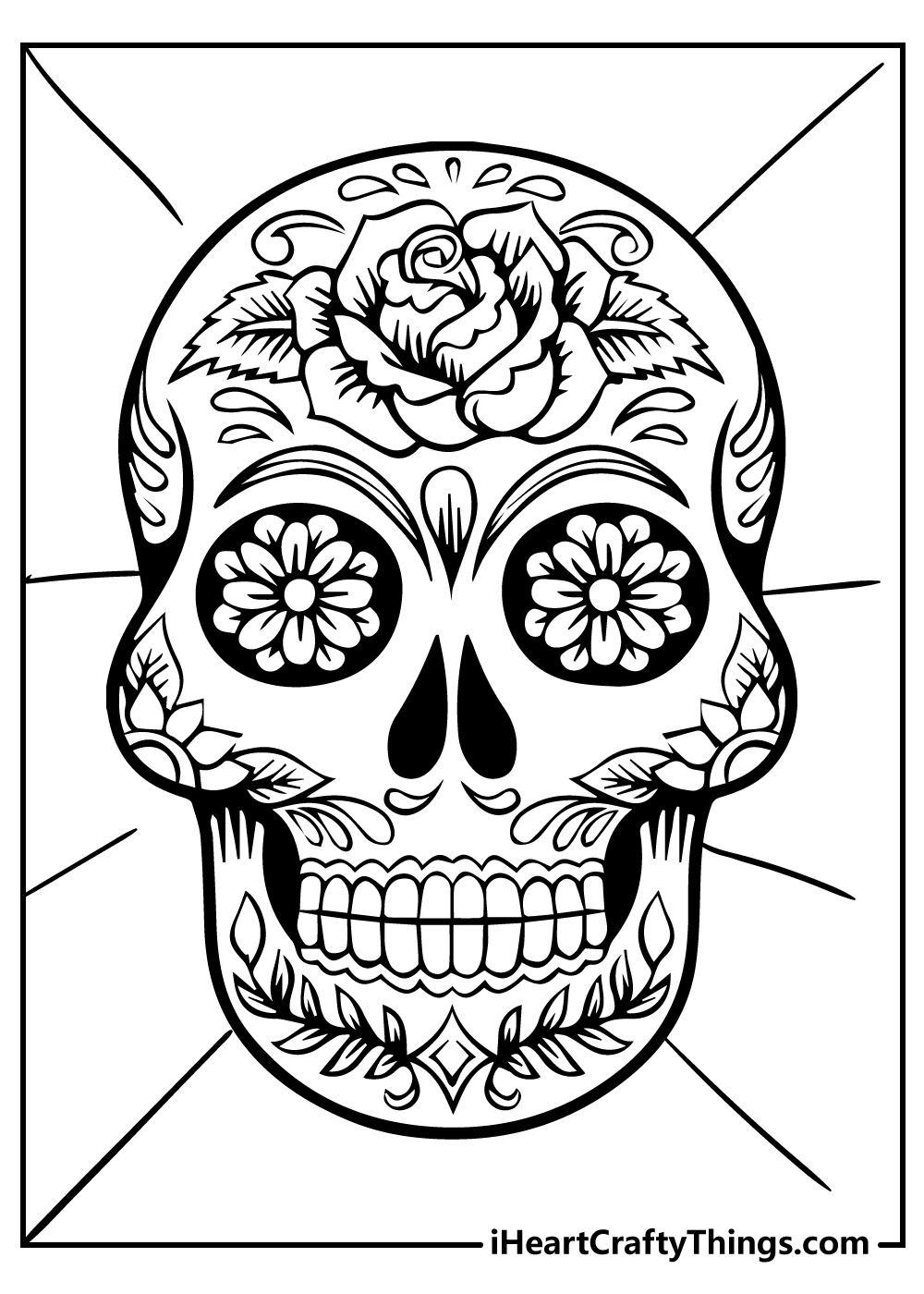 new sugar skull coloring pages free printable
