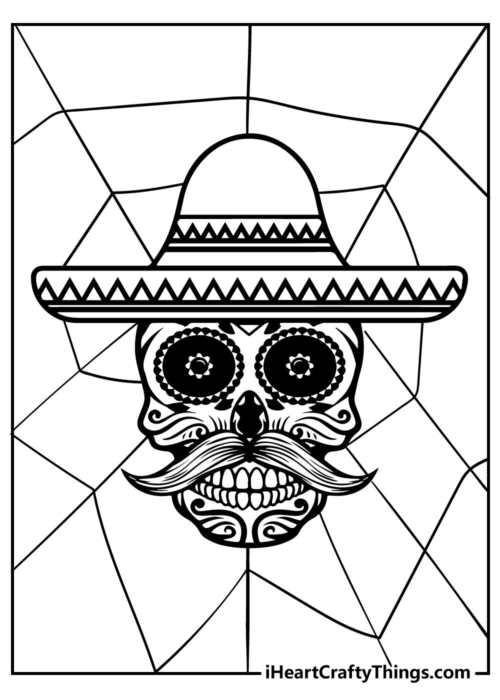 original sugar skull coloring pages free printable
