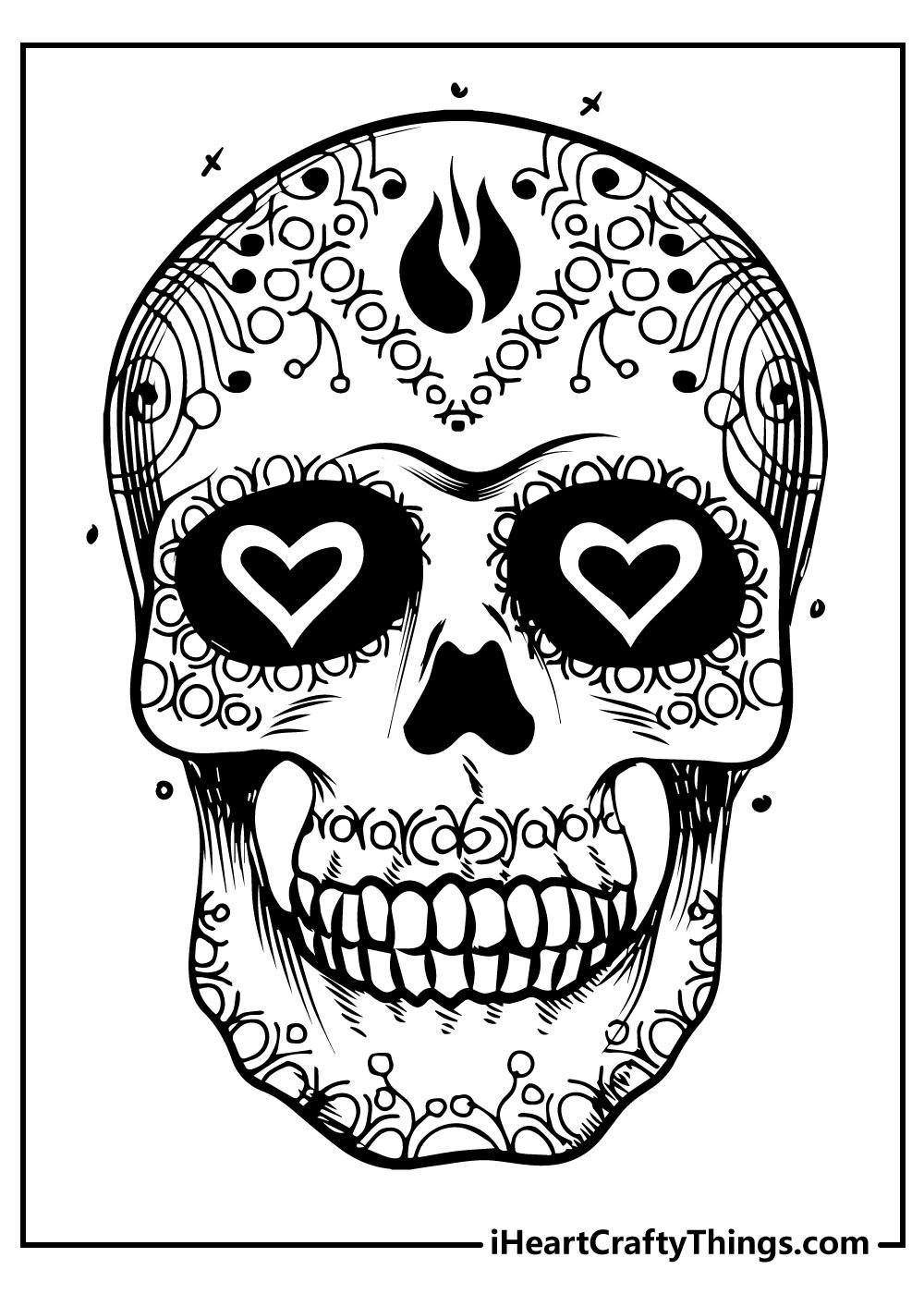 love sugar skull coloring pages free printable