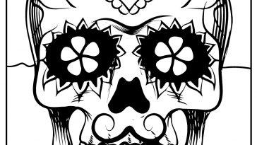 sugar skull coloring images
