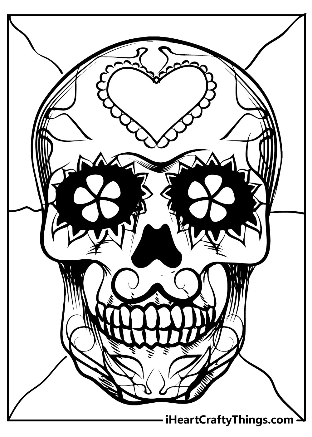 adult colouring sugar skull coloring images free printable