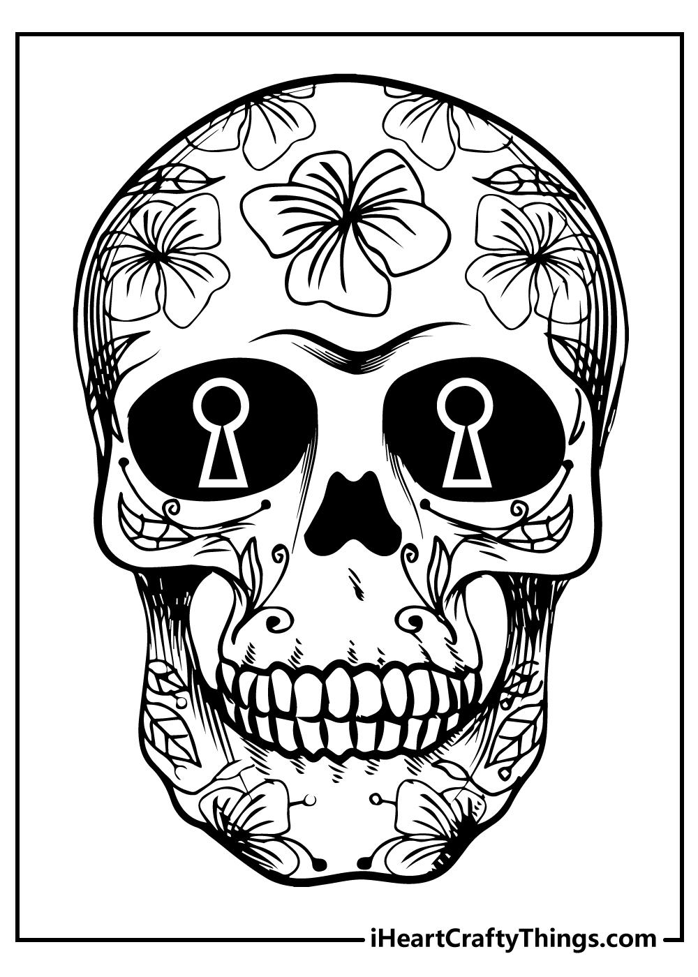 kids free sugar skull coloring pages printable