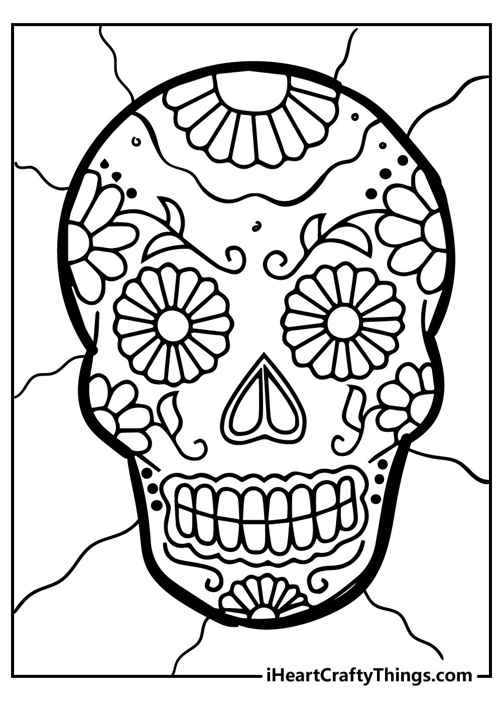 mandala sugar skull coloring pages free printable