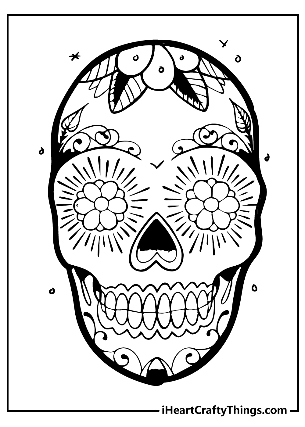 free printable sugar skull coloring sheets
