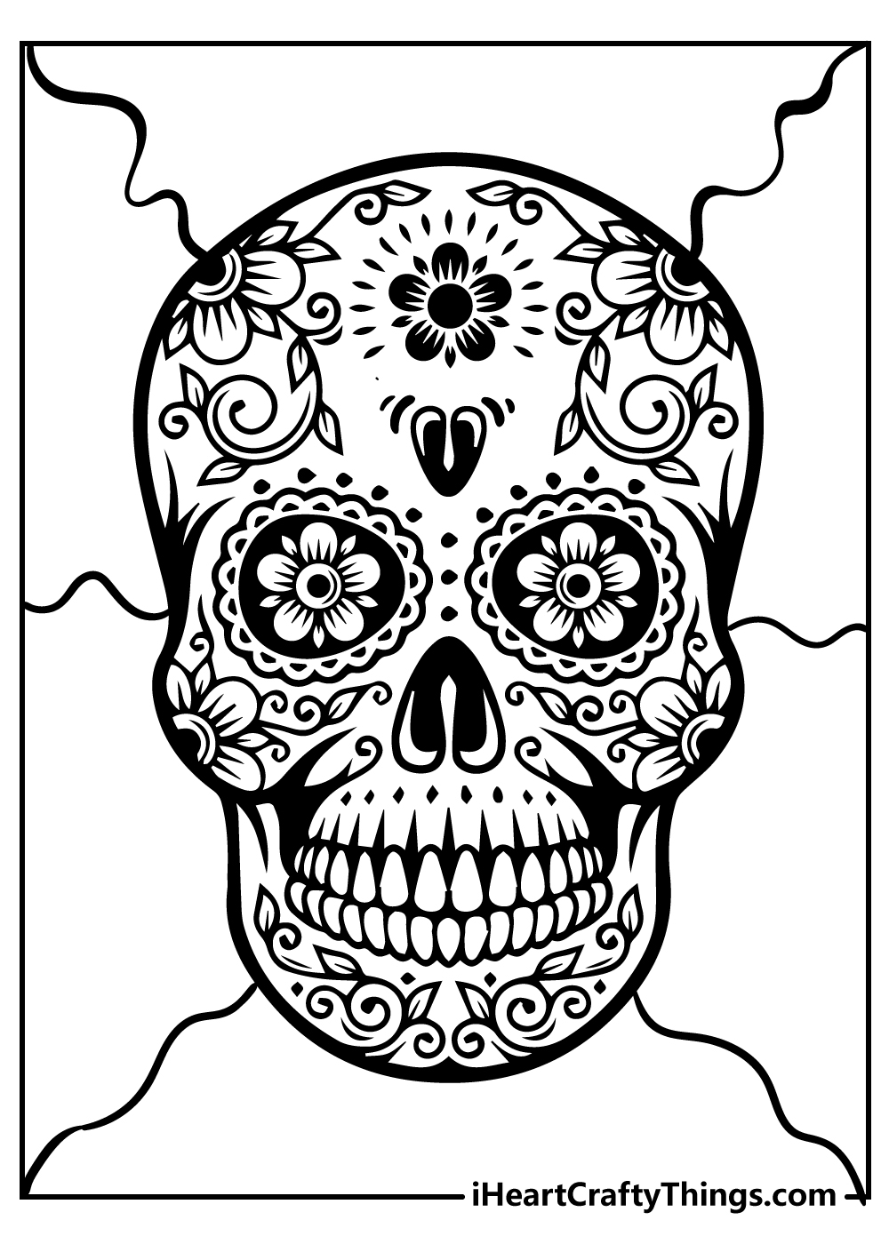 day of the dead sugar skull adult coloring pages