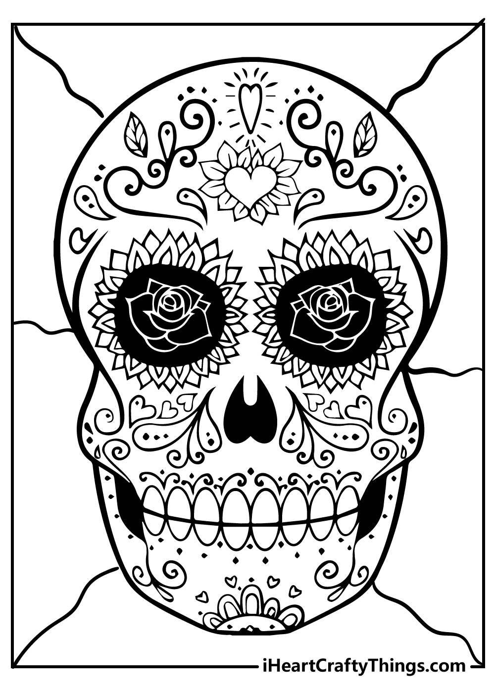 day of the dead sugar skull kids coloring pages