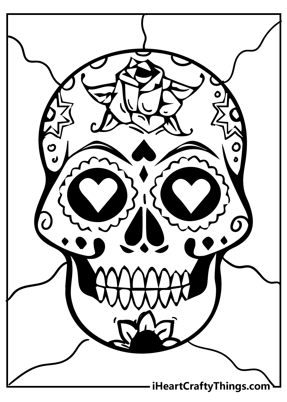 day of the dead sugar skull coloring pages free download
