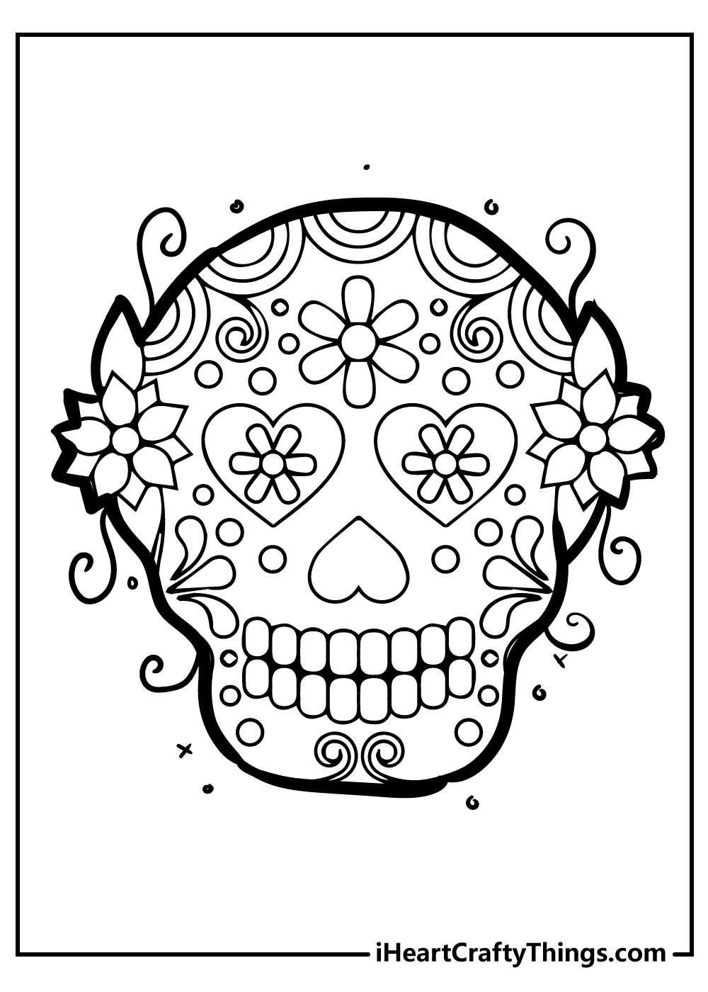 Halloween coloring pages sugar skull