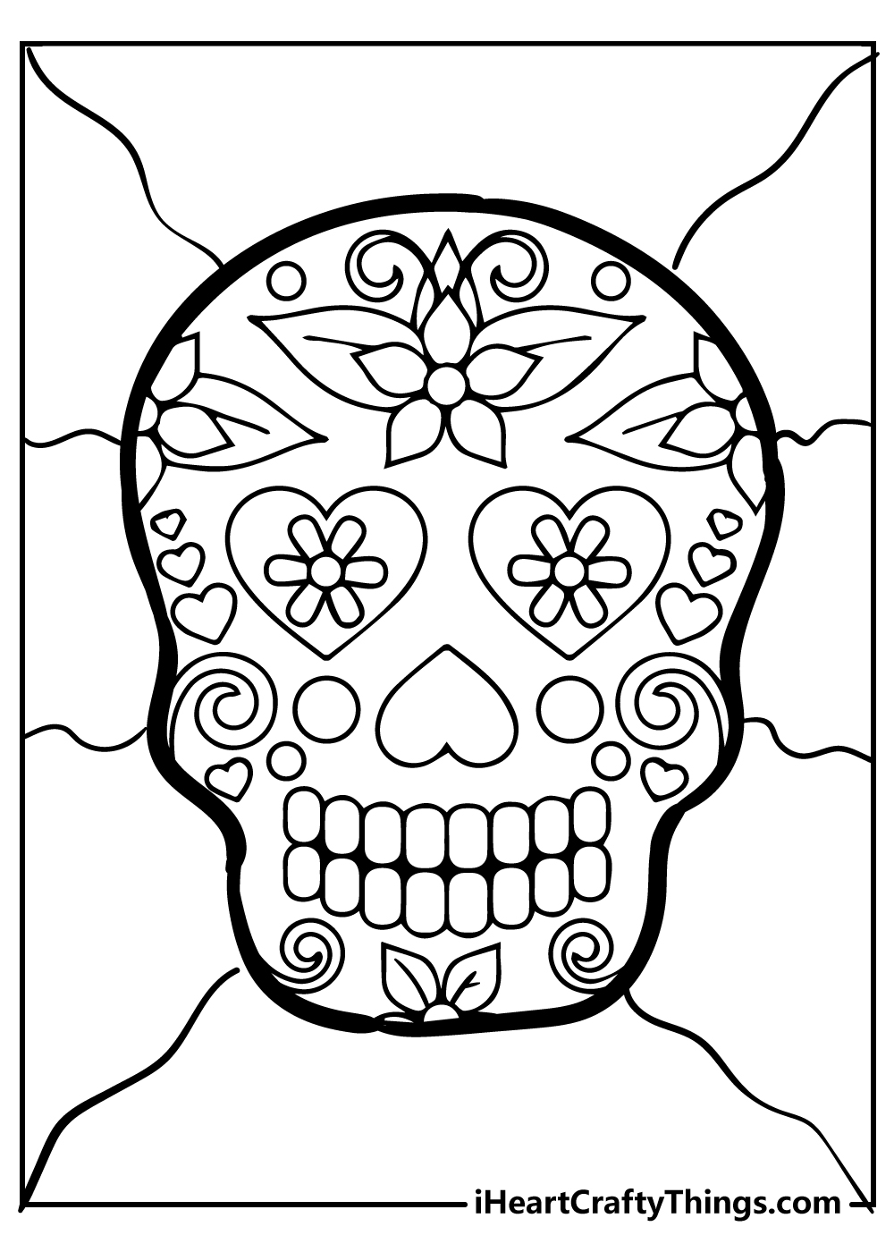 free coloring pages for adults sugar skull