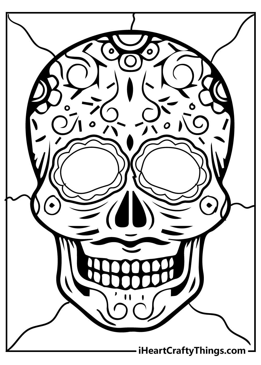 sugar skull coloring pages download free pdf