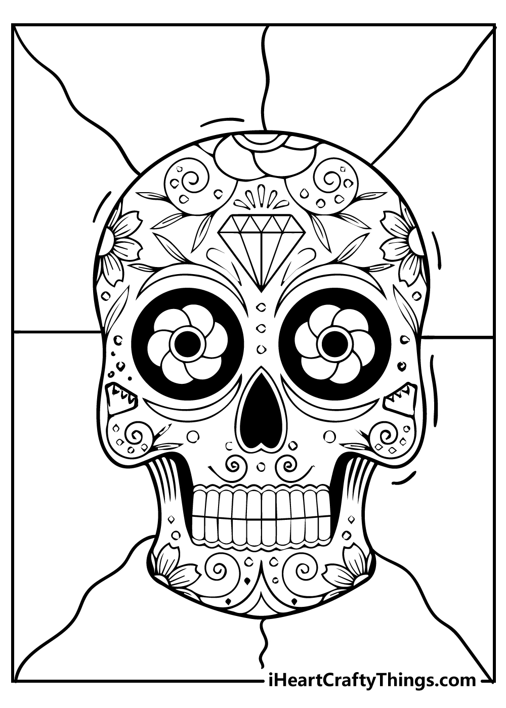 new sugar skull colouring pages for adults free printable